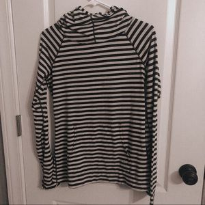 Striped Gap pull over hoodie